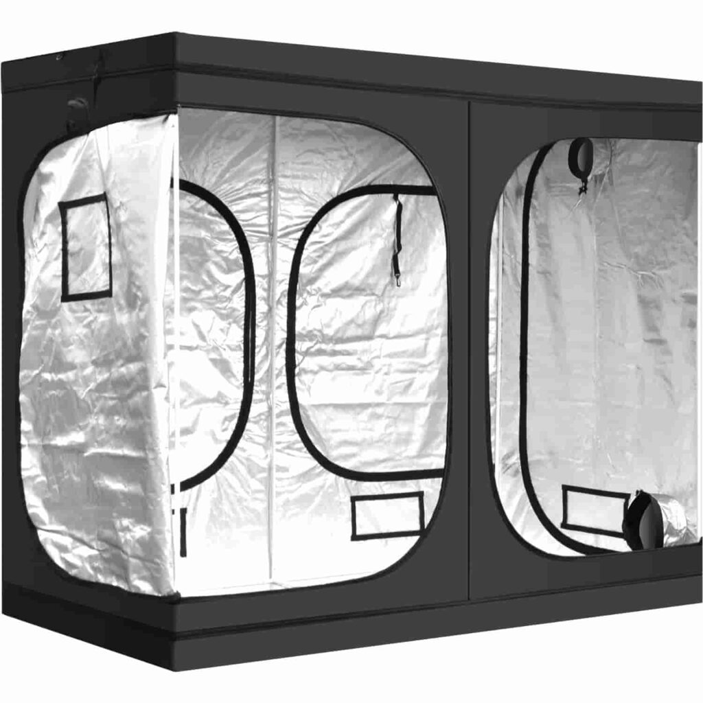 grow tent size