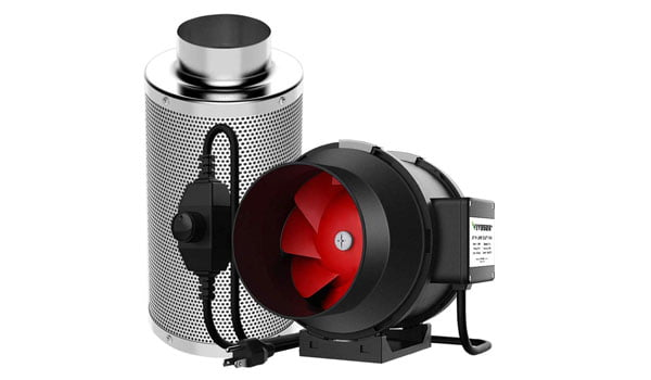 inline Duct Fan with Carbon Filter