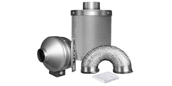 "iPower 4"" Inline Fan with 4"" Carbon Filter"