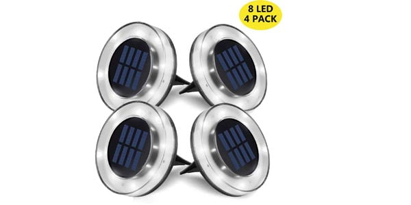 WZTO Solar LED Ground Lights Outdoor