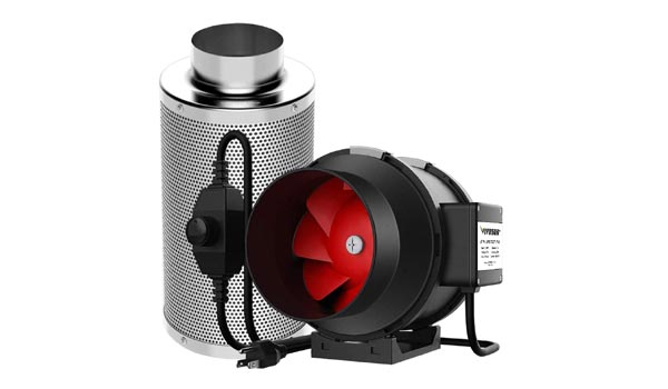 VIVOSUN 6 inch Inline Fan and Filter